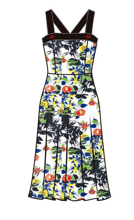 Paul Brial: Backwards Garden Maxi Dress (2 Left!)