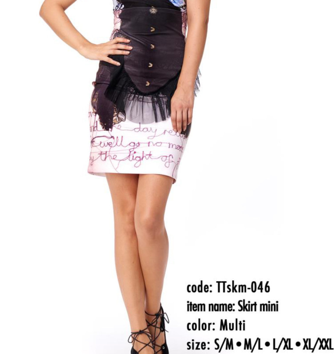 IPNG: Sexy Peasant Corset Illusion Mini Skirt IPNG_TTSKM-046