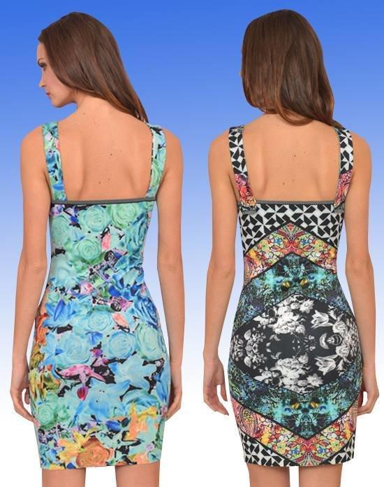 Eroke Italy: Orange Rose Asymmetrical Sheath Dress SOLD OUT