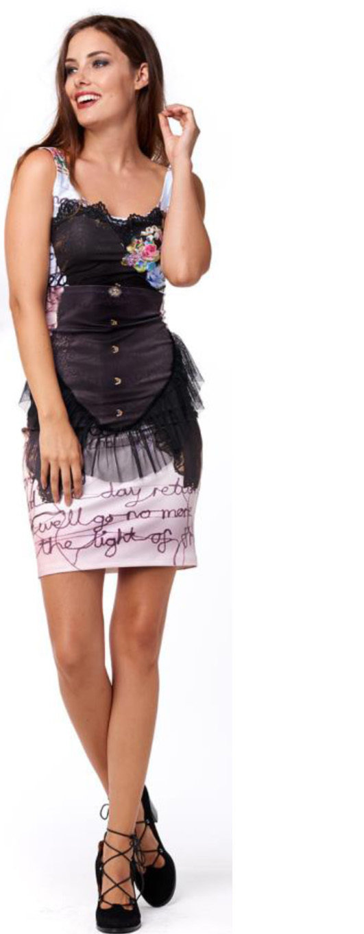 IPNG: Incredibly Sexy Rosette Corset Tunic (1 Left, Ship Immed!)