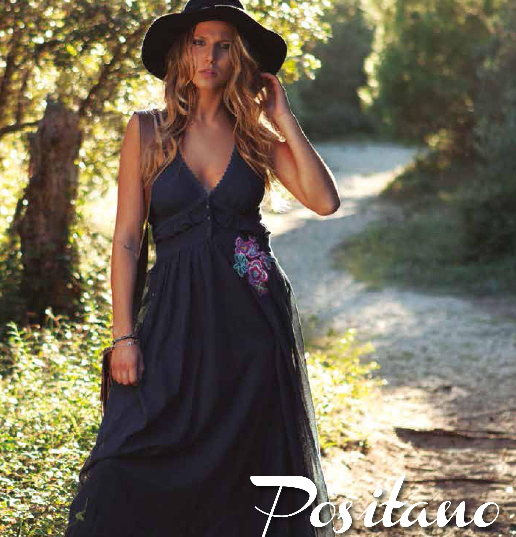 Savage Culture: Sexy Sweetheart Arabesque Cotton Maxi Dress Positano (2 Left!) SAVAGE_34017