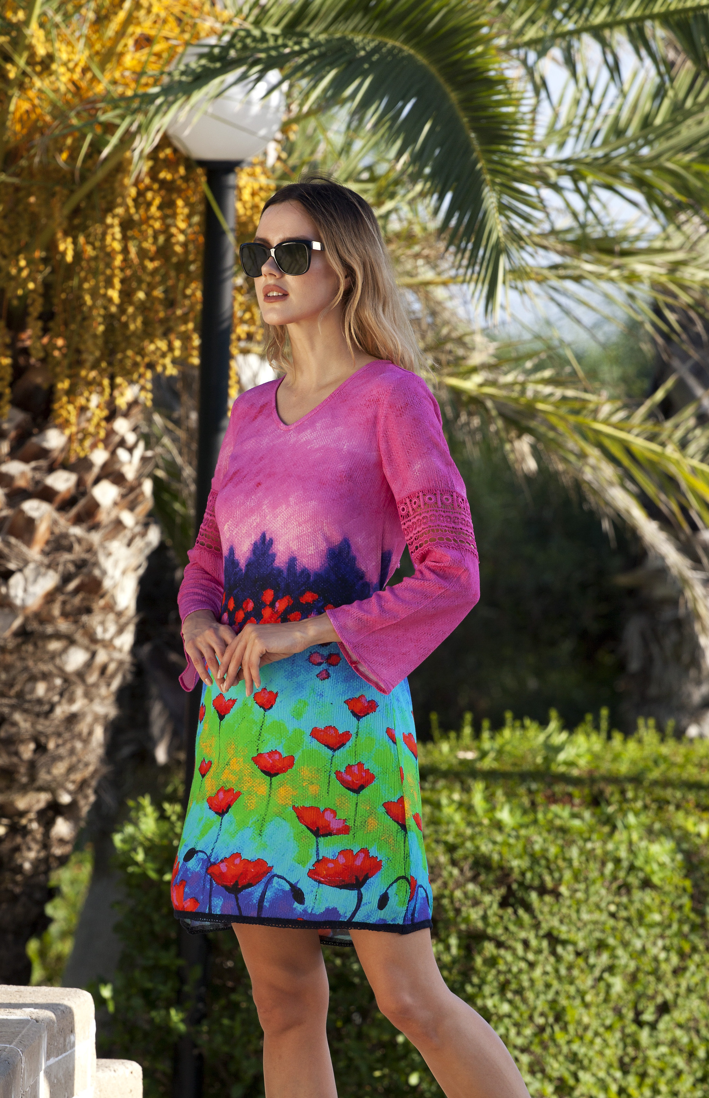 Simply Art Dolcezza: Fuschia Pink Indigo Painting Art Dress SOLD OUT DOLCEZZA_SIMPLYART_18626
