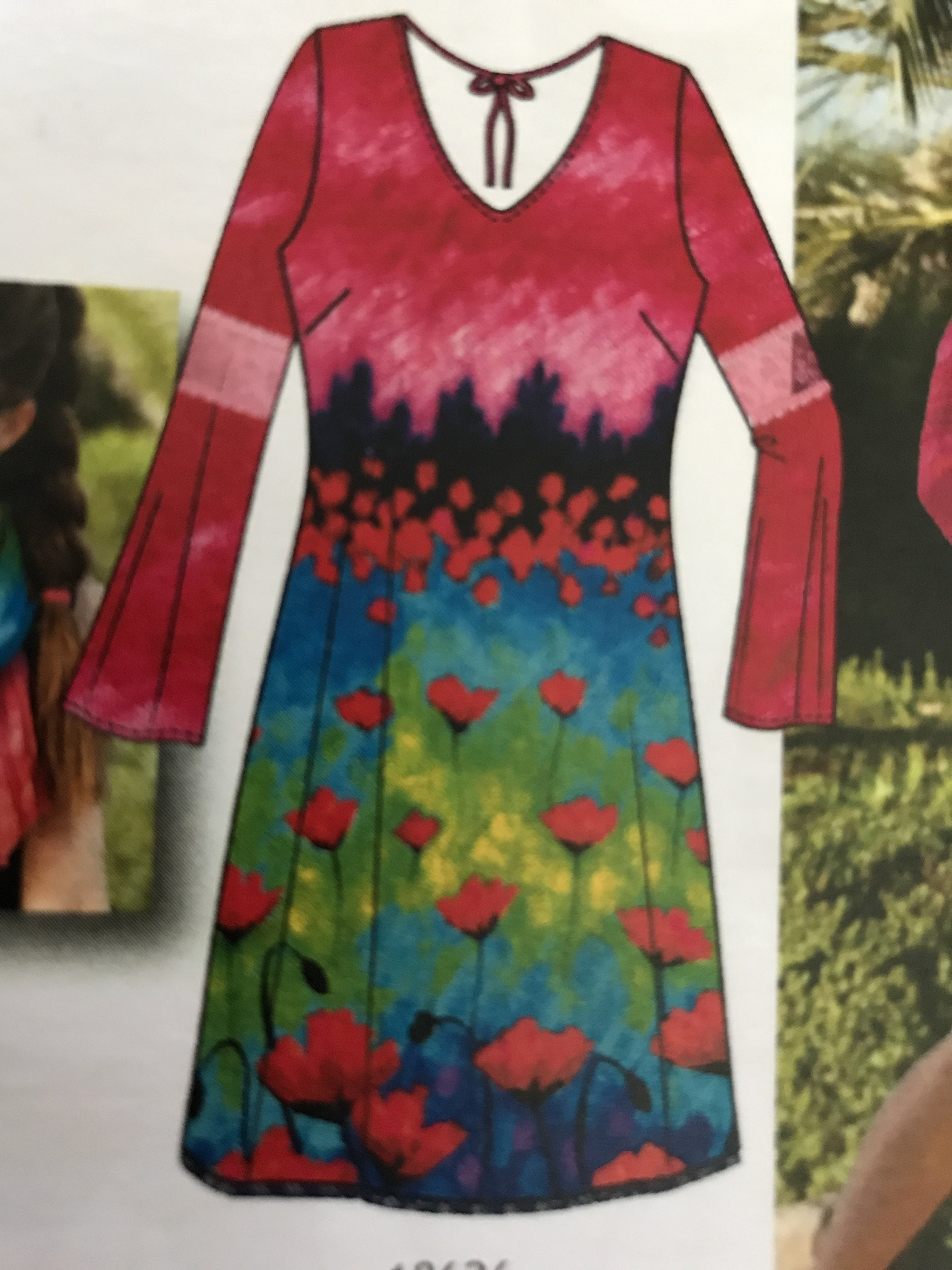 Simply Art Dolcezza: Fuschia Pink Indigo Painting Art Dress SOLD OUT