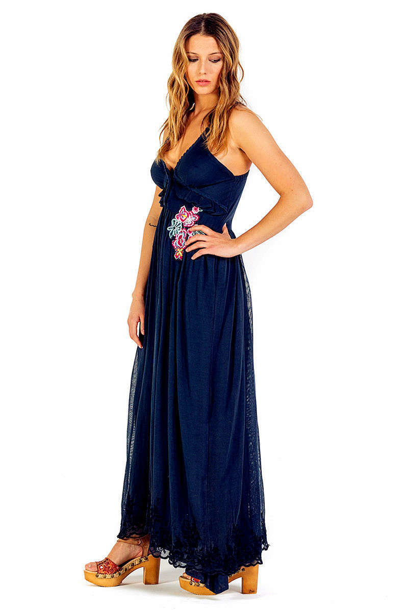 Savage Culture: Sexy Sweetheart Arabesque Cotton Maxi Dress Positano (2 Left!)