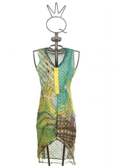 Save The Queen: Pretty In Polka Fringed Silk Dress STQ_6497_N