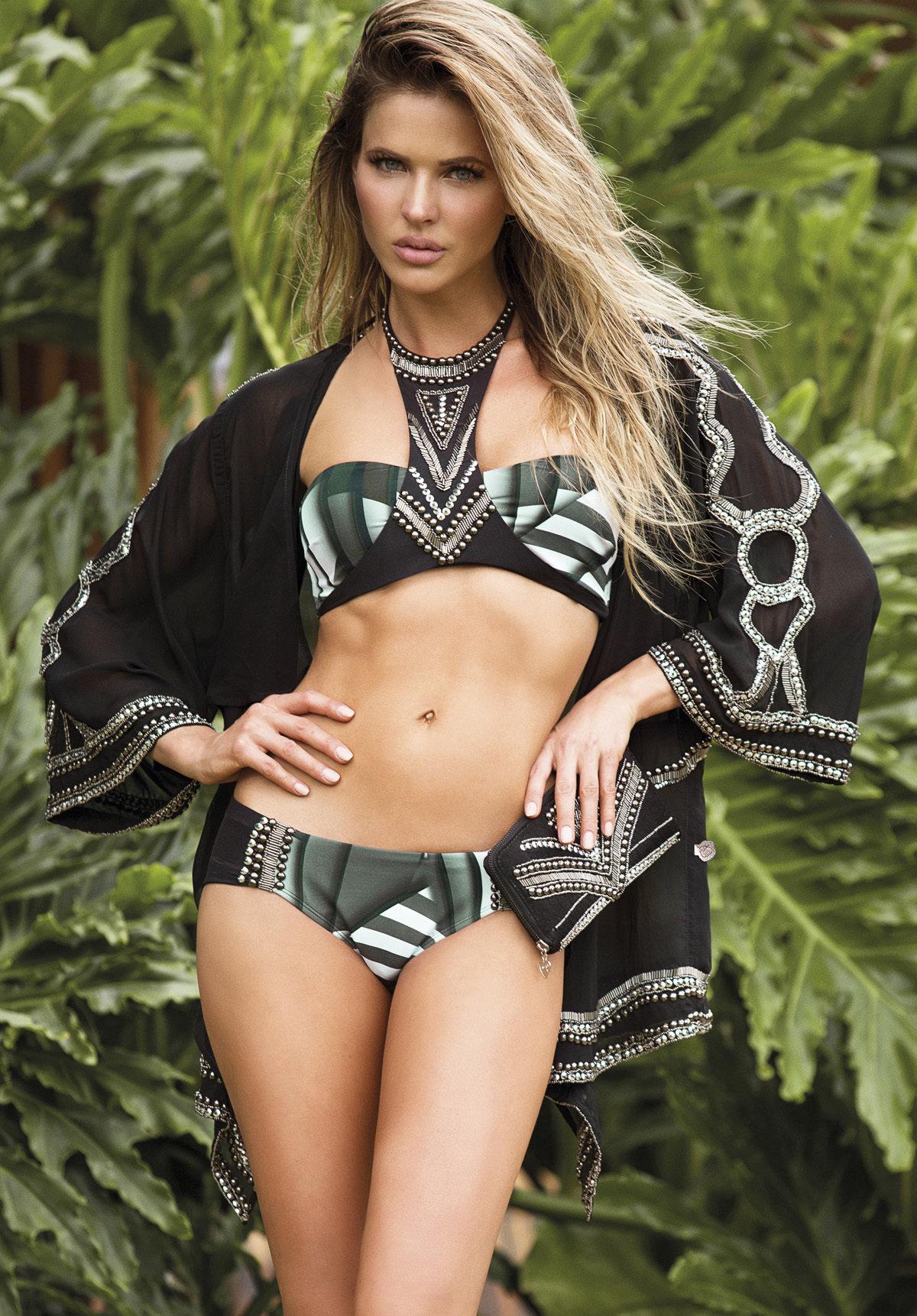 Paradizia Swimwear: Black Onyx Cutout Bikini Top SOLD OUT