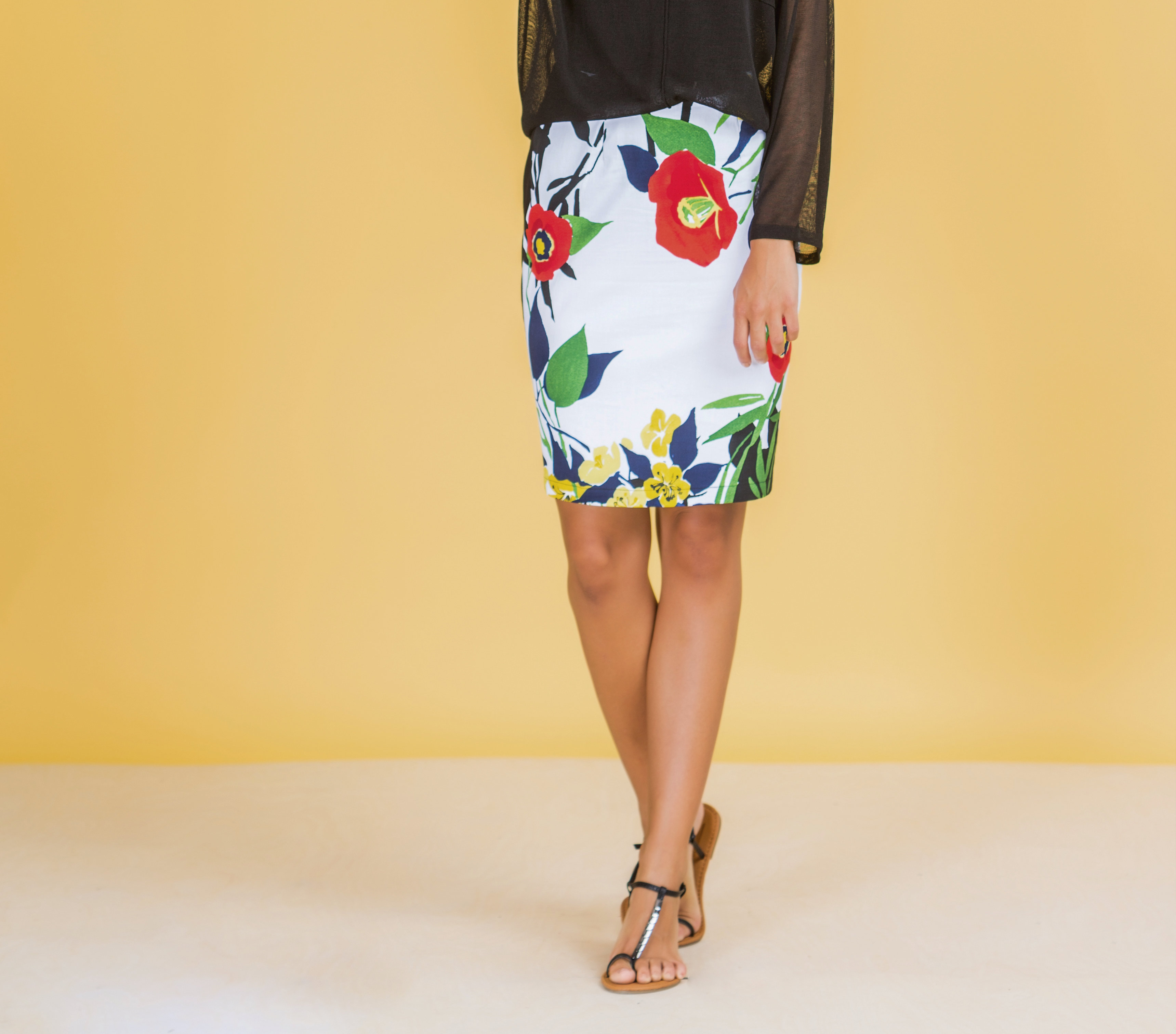 Paul Brial: Palma De Mallorca Nights Princess Seamed Skirt PB_HELICONIA
