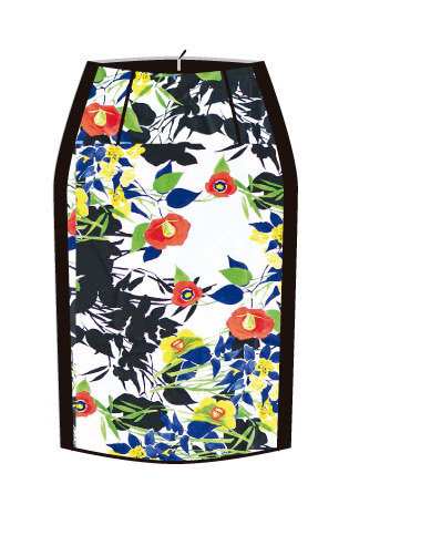 Paul Brial: Palma De Mallorca Nights Princess Seamed Skirt
