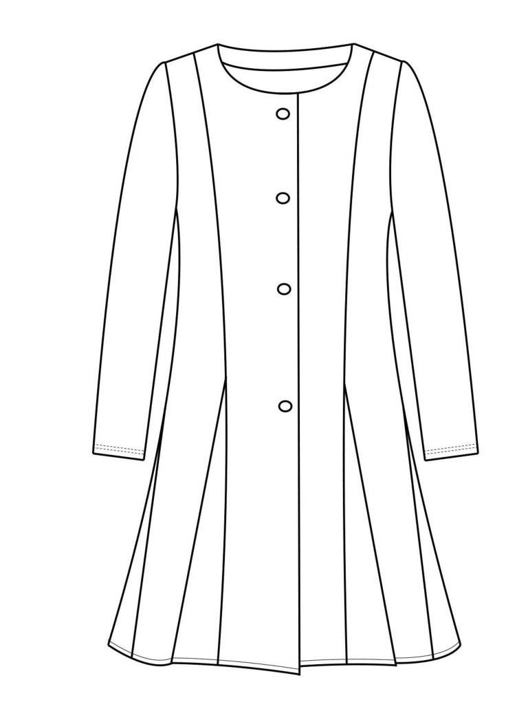 Maloka: Black Rose Fit & Flare Coat (More Colors!)