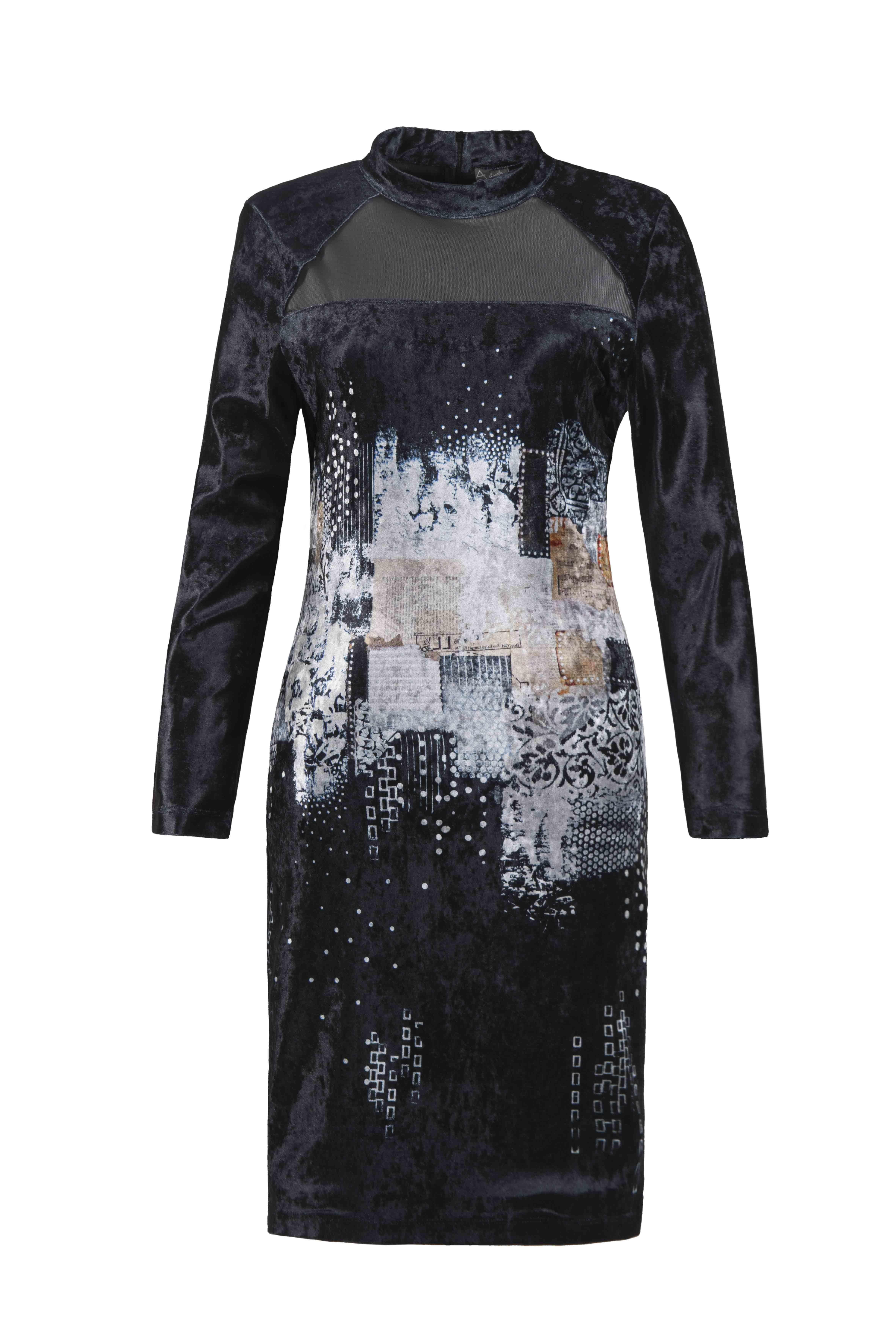 Simply Art Dolcezza: Explosion of Crystals Abstract Art Velvet Dress (1 Left!)