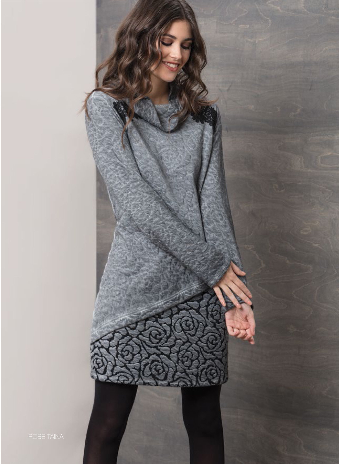 Maloka: Rose Imprinted Angled Hem Sweater Dress (More Arrived!) MK_TAINA_N5