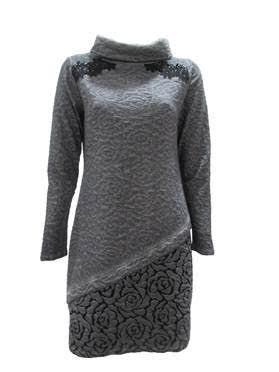 Maloka: Rose Imprinted Angled Hem Sweater Dress (More Arrived!)