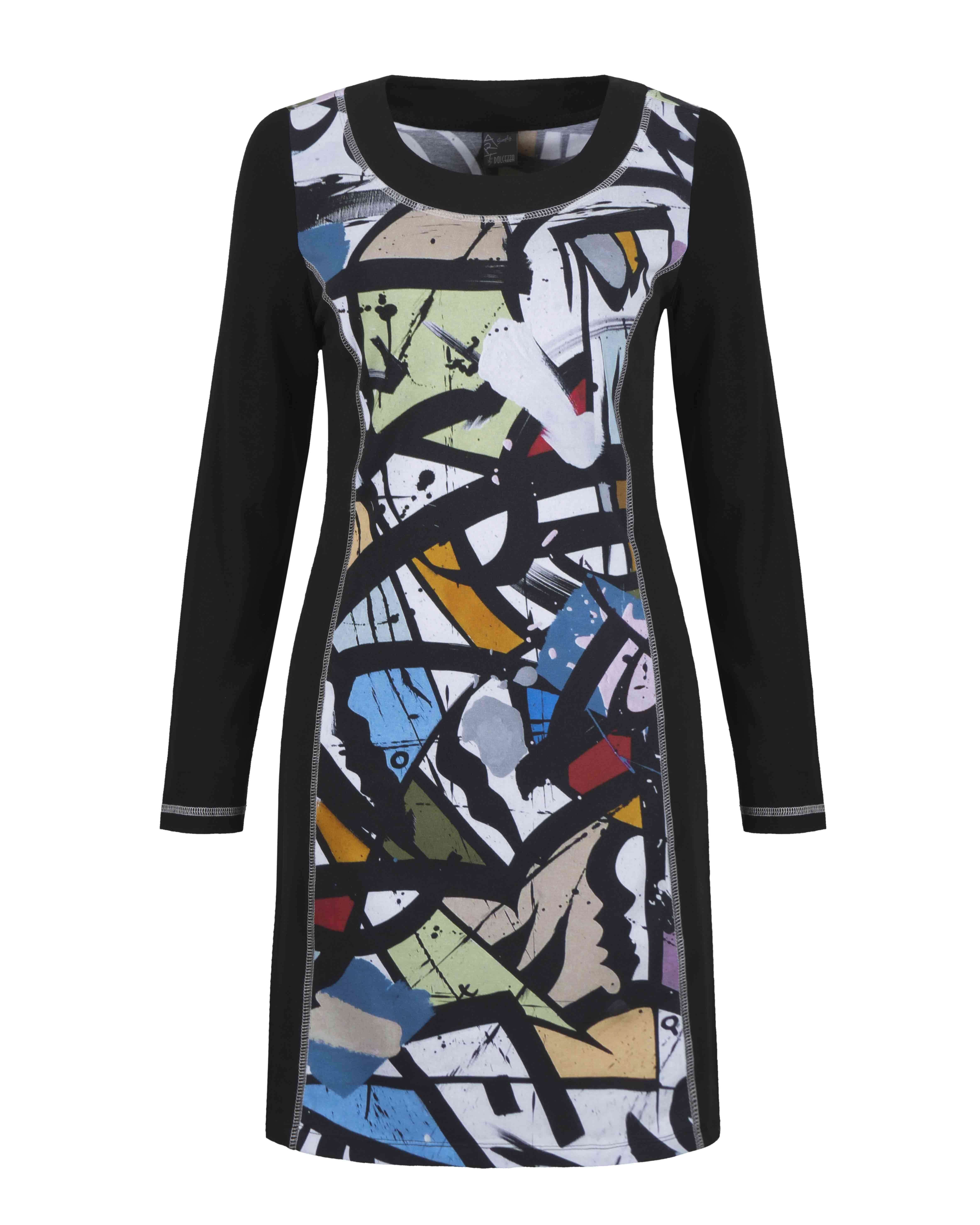 Simply Art Dolcezza: Gorgeous Graffiti Art Cotton Knit Dress/Tunic SOLD OUT