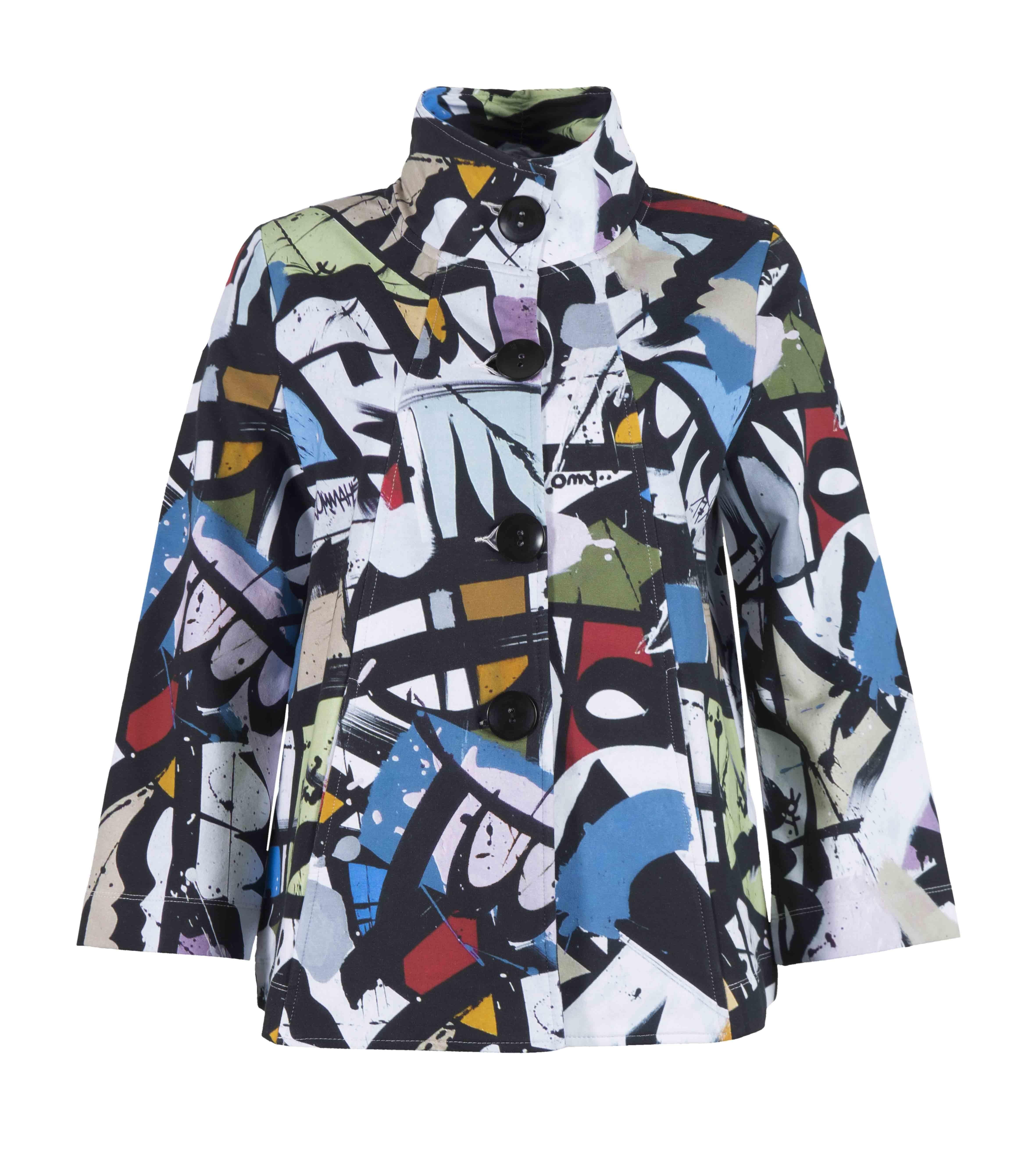 Simply Art Dolcezza: Gorgeous Graffiti Art Knit Cardigan Jacket (2 Left!)