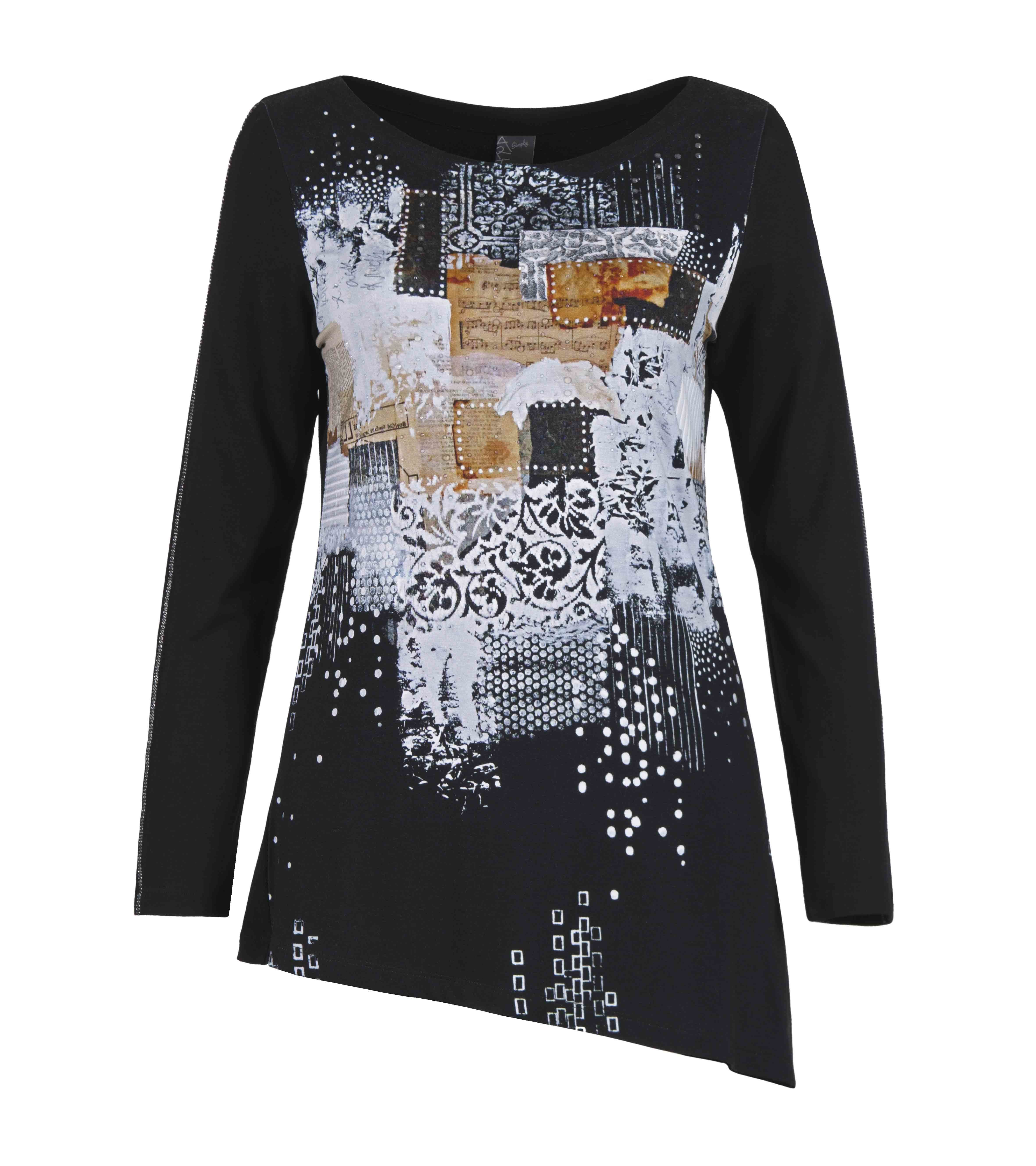 Simply Art Dolcezza: Explosion of Crystals Asymmetrical Abstract Art Tunic (1 Left!)