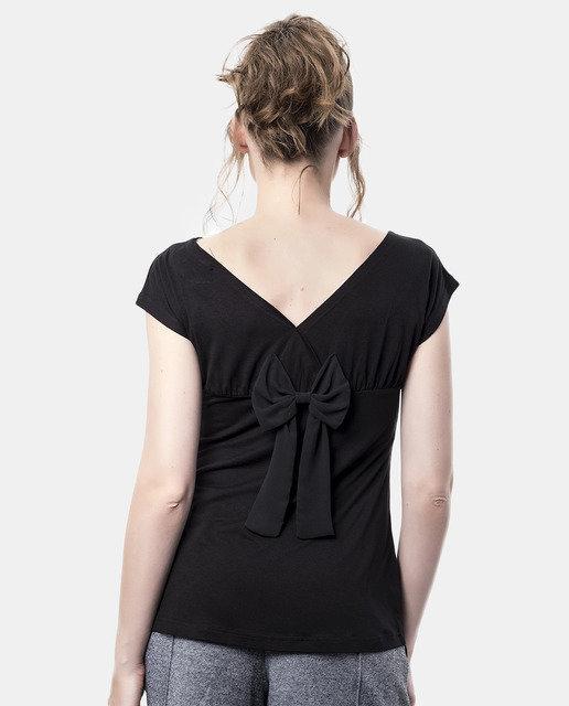Mamatayoe: Backwards Bow Embroidered Fit & Flare Tunic