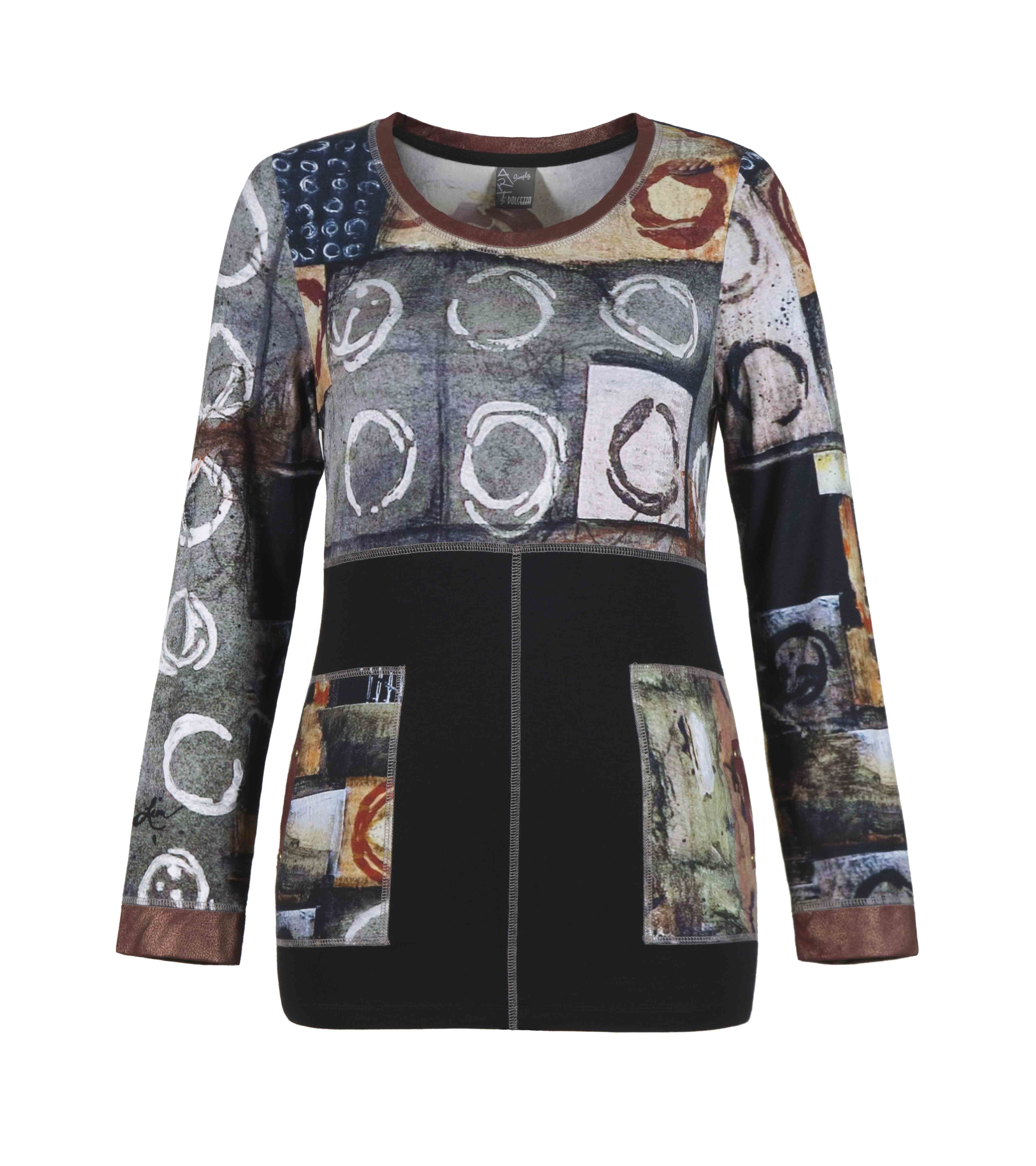 Simply Art Dolcezza: Exotic Truffle Collection Abstract Flutter Tunic DOLCEZZA_SIMPLYART_58621