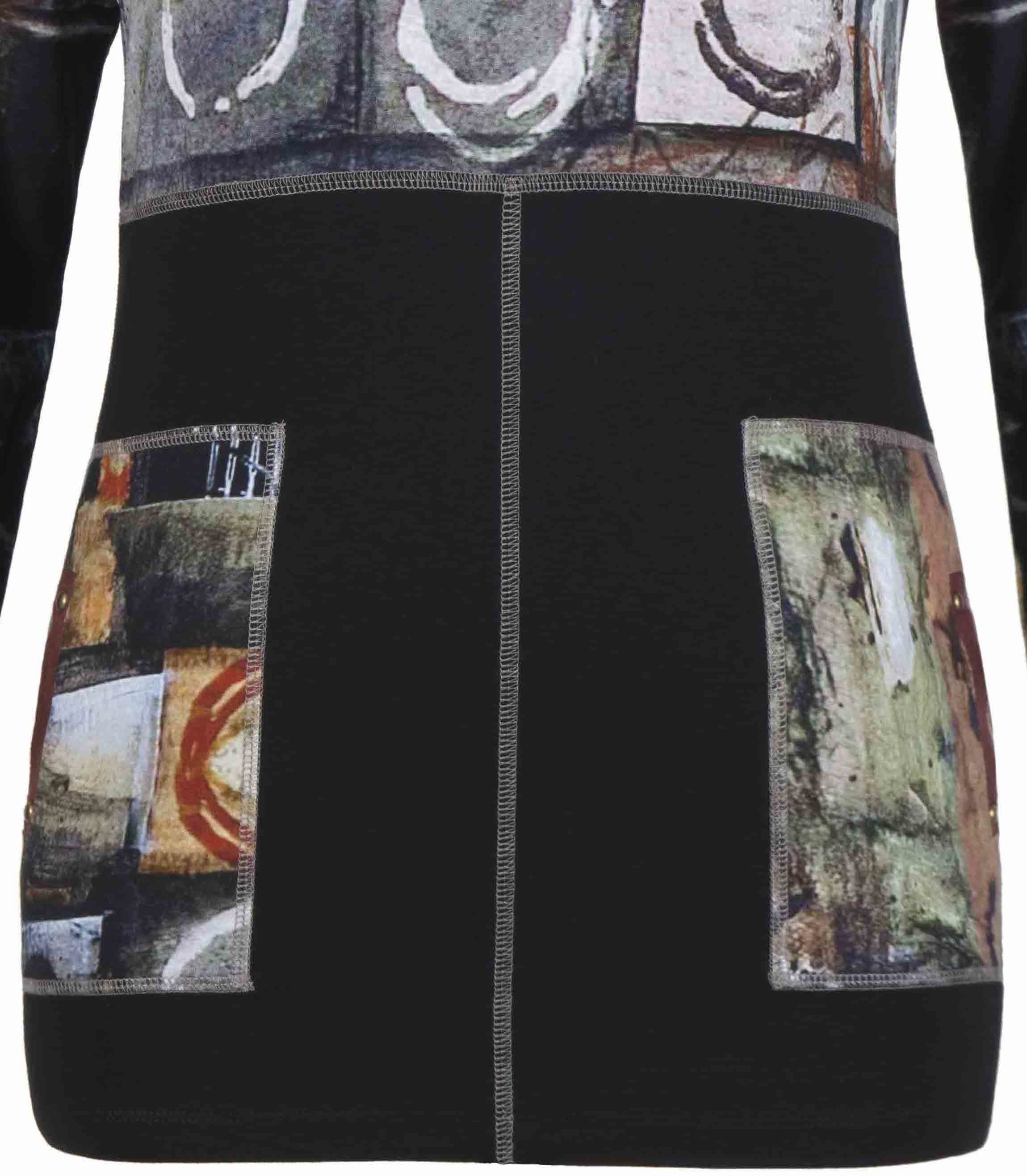 Simply Art Dolcezza: Exotic Truffle Collection Abstract Flutter Tunic