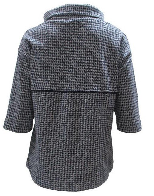 Maloka: Midnight Blue Jacquard Fit & Flare Flower Sweater (Few Left!)