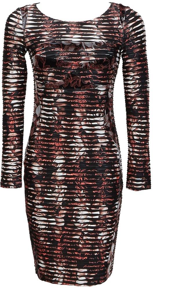 Eroke Italy: Crinkled Rosette Dress