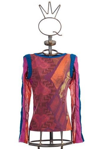 Save The Queen: Heart My Bodice Abstract Art Mixed Media Sweater Tunic (3 Left!) STQ_HEARTS_N