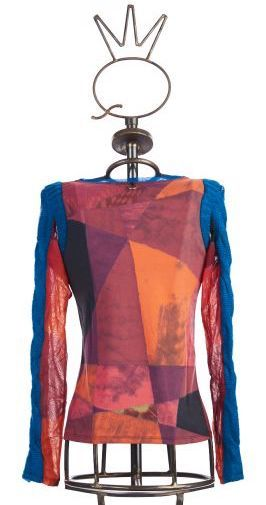 Save The Queen: Heart My Bodice Abstract Art Mixed Media Sweater Tunic (3 Left!)