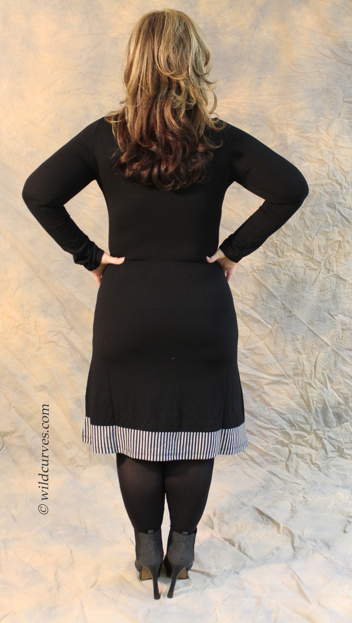 Dzhavael Couture Panther Striped Sweater Dress