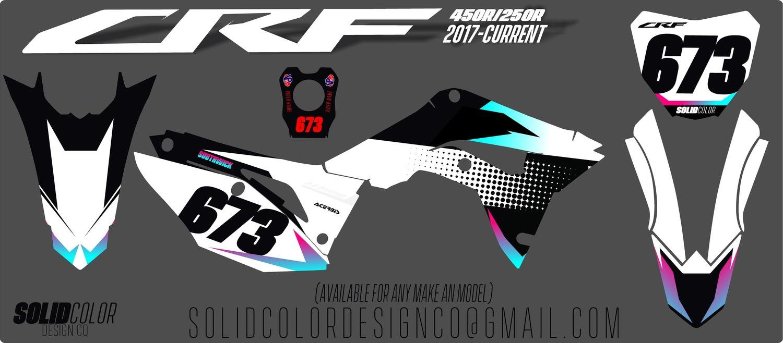 "2019 Honda CRF 450 ""Flux"" Series Graphics kit"