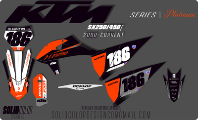 "2019 KTM SXf450 ""Platinum"" Series Graphics Kit"
