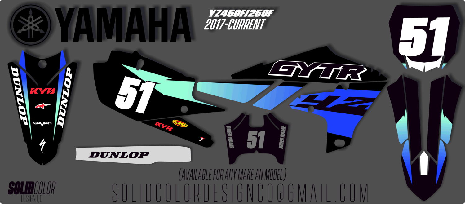 "YZ450f Yamaha ""Flux"" series graphics kit"