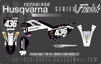 "2018 Husqvarna FC450/350/250 ""Finish"" Series Graphics kit"