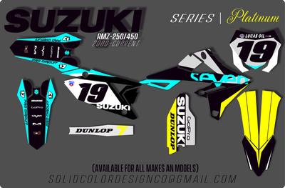 """2019 RMZ 450/250 """"Platinum"""" Series Graphics Kit"""