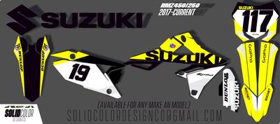 "2019 Suzuki RMZ 450/250 ""OG"" Series  Graphics Kit"