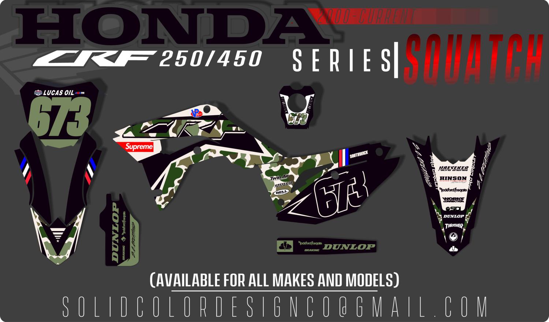 "2019 Honda CRF 450/250 ""Squatch"" Series  Graphics Kit"