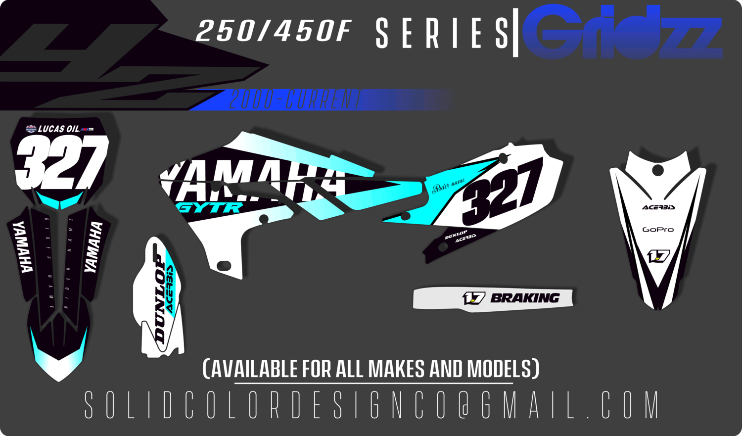 "Yamaha YZ450/250f ""OG"" Series Graphics Kit"
