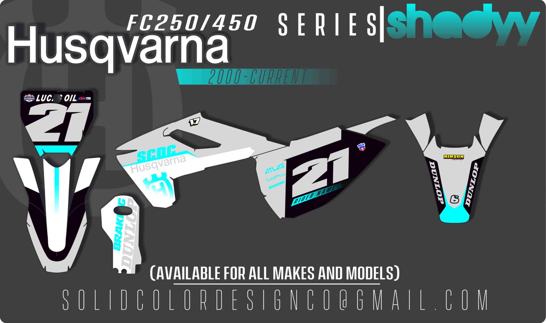 "2018 Husqvarna FC250/350/450 ""Shadyy"" Graphics Kit"