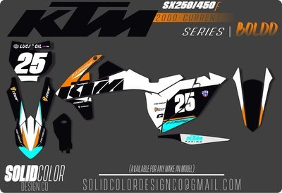 "2018 SX 450/350/250f ""Boldd"" Graphics Kit"