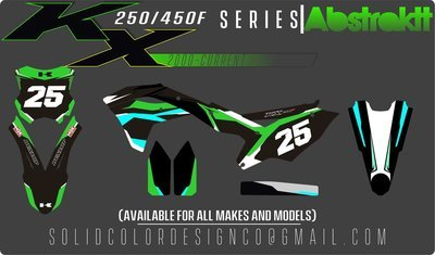 """2018 Kawasaki KX450/250f """"Abstraktt"""" Graphics Kit"""
