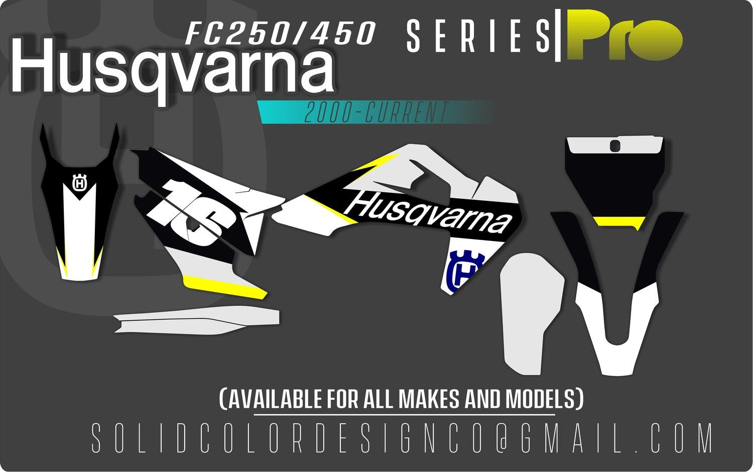 "2019 Husqvarna FC 450/250 ""Pro"" Graphics Kit"