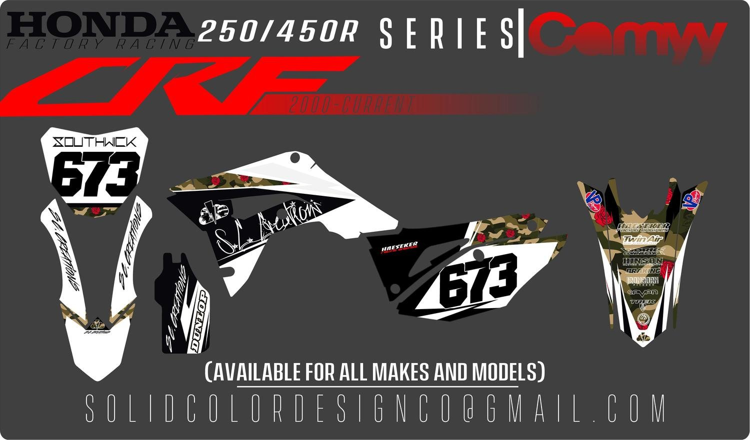 "2019 Honda CRF450/250 ""Camyy"" Graphics Kit"