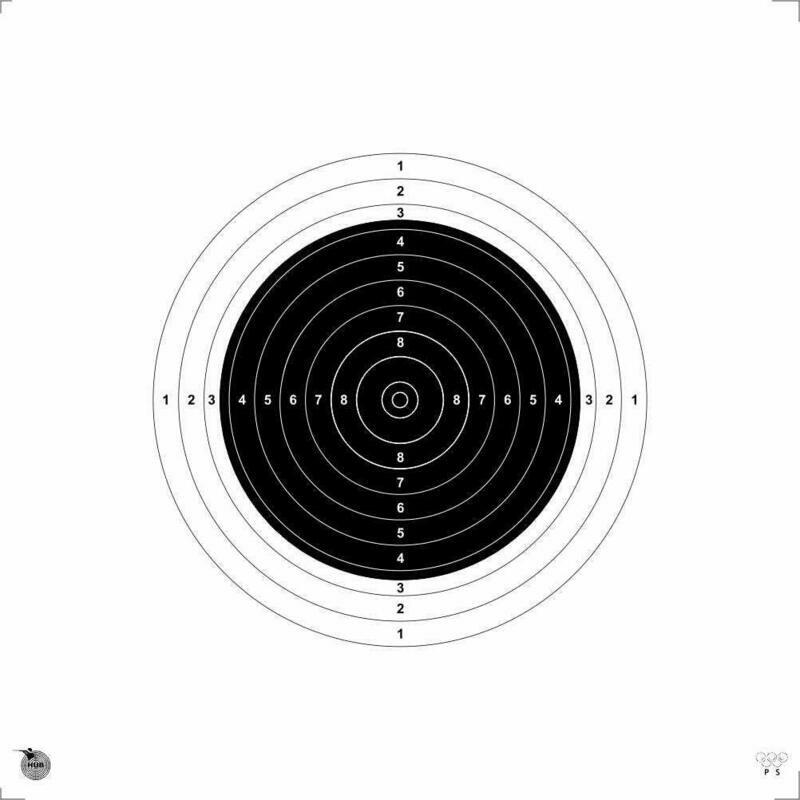 HSEPL 50 Meter Rifle Target Paper (Qty 200 Set)