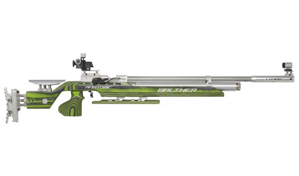 Walther LG400 Anatomic GREEN PEPPER, right, M-grip Match Air Rifle