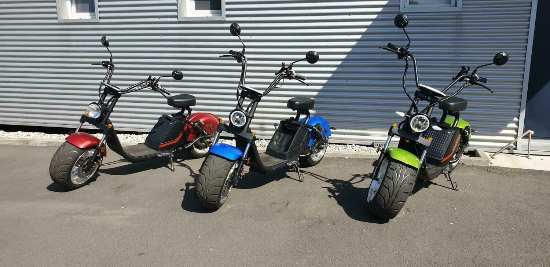 Probefahrt mit unseren E-Scootern