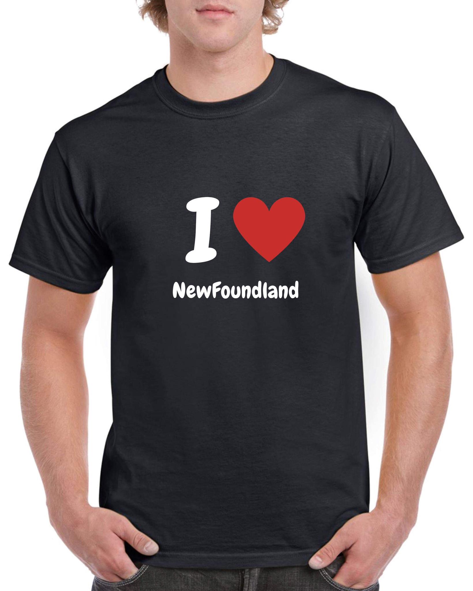 T-shirt póló - kerek-nyakú - fekete - Újfoundlandi