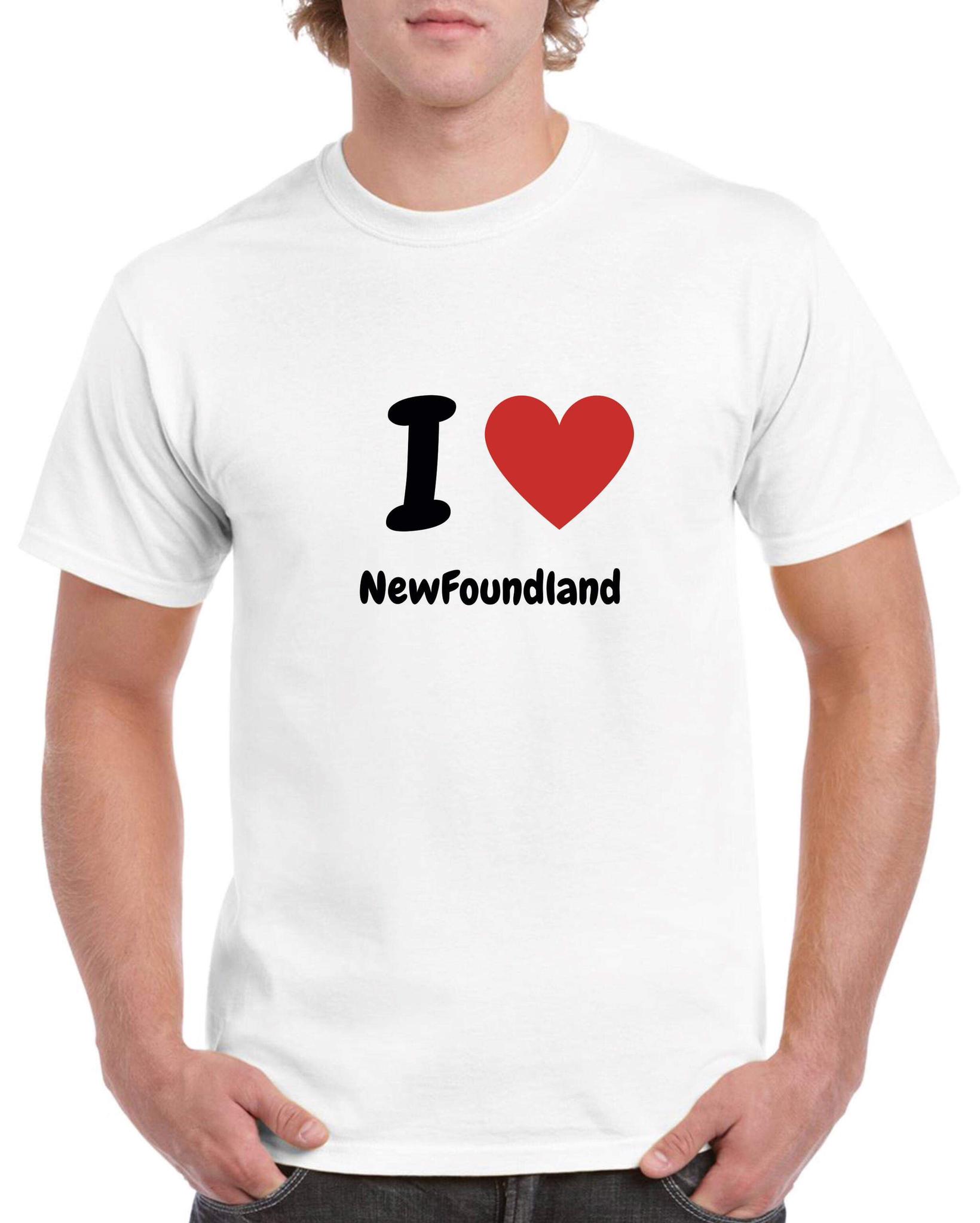 T-shirt póló - kerek-nyakú - fehér - Újfoundlandi