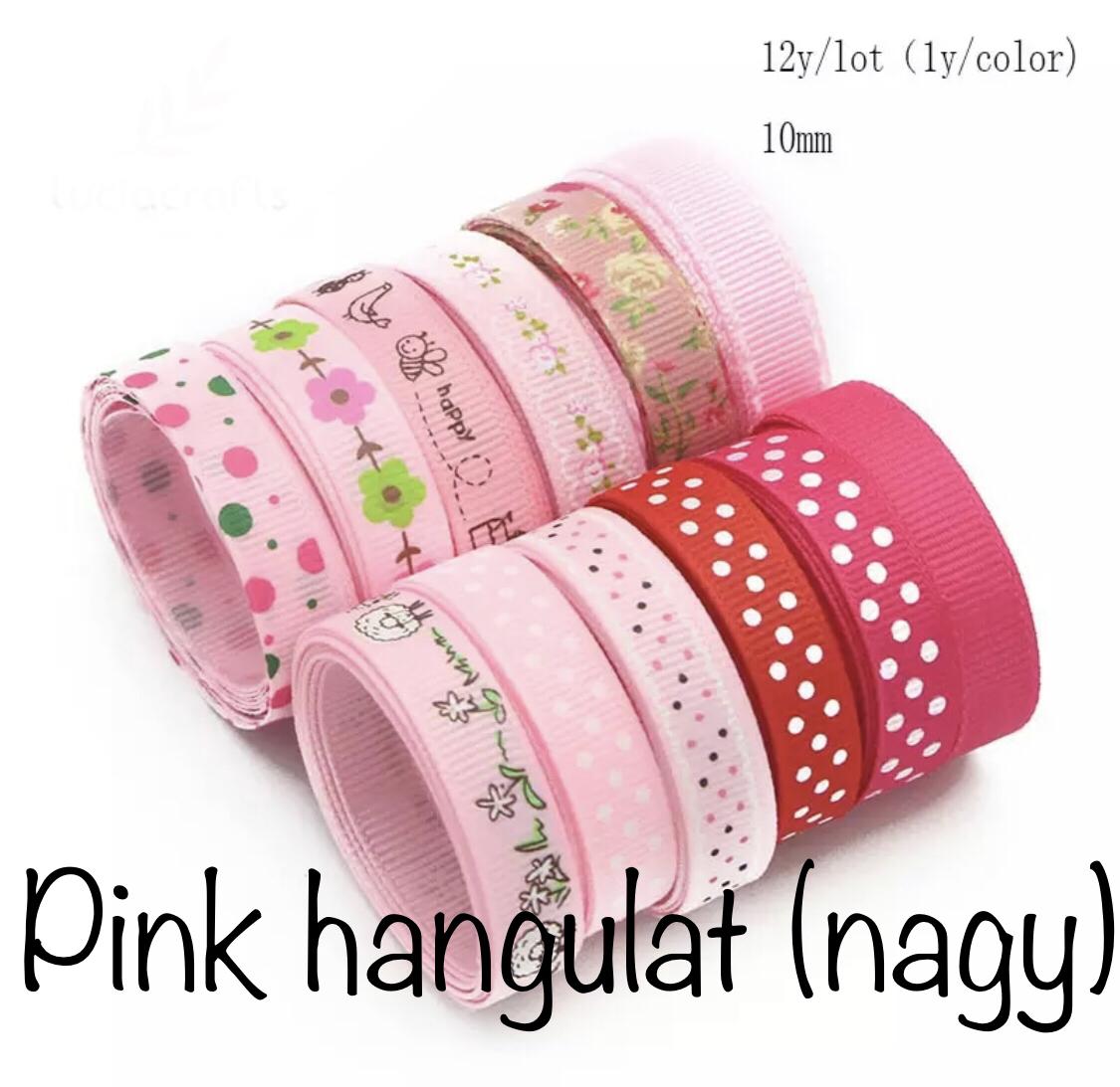 Pink hangulat - vegyes - összesen 12 yard