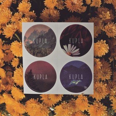 Kupla - Round Stickers x4