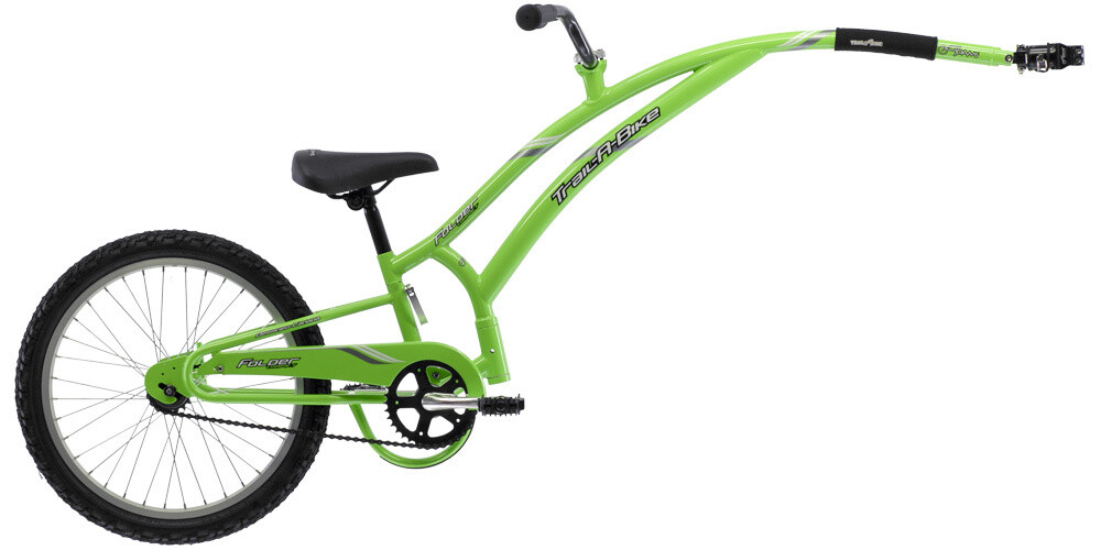 Trail-a-Bike - Demi vélo pour enfant - Couleur: Vert