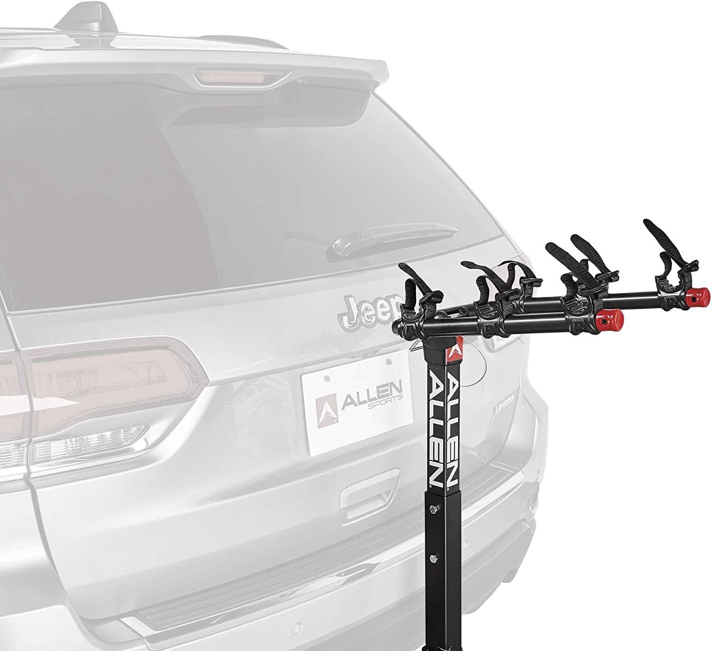 Allen - Supports d'attelage pour 3 vélos Allen Sports pour attelage de 1 1/4 po et 2 po