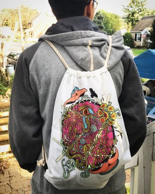 Exploding Ideals [SD] Drawstring Bags
